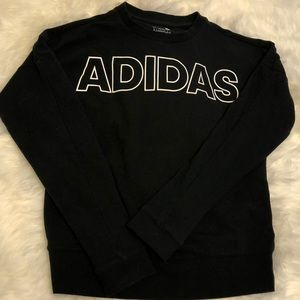Adidas | Black Crew Neck Sweatshirt | Size Small